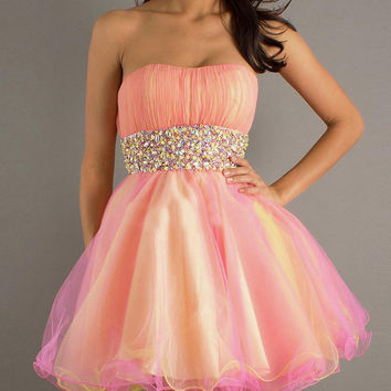 strapless sexy rhinestone cheap cocktail dresses/evening cocktail dresses