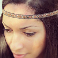 Earth tone Hippie Headband- bohemian hairstyles