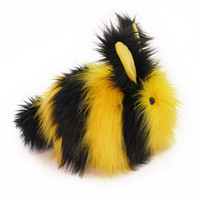 Bumble Bunny Stuffed Toy Faux Fur Plushie - Large Size