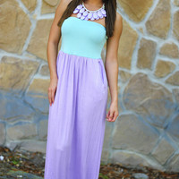 Color Me Happy Dress: Purple/Mint | Hope's