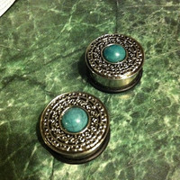 Aztec Turquois Plugs by UniqueStreak on Etsy