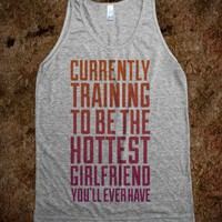 Currently Training To Be The Hottest - workout shirts - Skreened T-shirts, Organic Shirts, Hoodies, Kids Tees, Baby One-Pieces and Tote Bags
