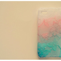 Ombre Iphone Lace Case in Cotton Candy