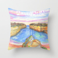 australia love Throw Pillow by terezadelpilar