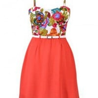 The New Summer Floral Belt Dress - 29 N Under