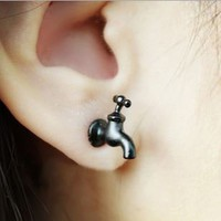 Fashion Tap 3D Ear Stud (Single) | LilyFair Jewelry