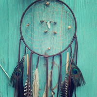 spirit walker... turquoise and quartz 8 inch dream catcher