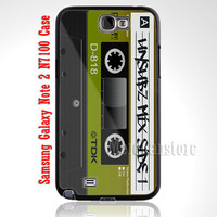 Retro Cassette Tape Custom Case for Samsung Galaxy Note 2 N7100