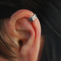 Ear Cuff Cartilage Leaf  sterling silver