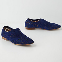 Lacy Suede Oxfords