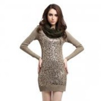 Bqueen Beads Long Sleeve Women Dress Q1101Z - Designer Shoes|Bqueenshoes.com
