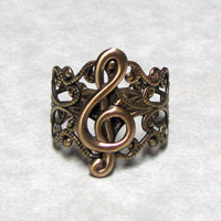 Treble Clef RIng Band by ranaway on Etsy