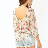 floral-print-blouse CREAMMULTI - GoJane.com