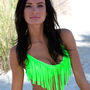 Neon Lime Collection: Sexy Fringe Swimsuit Top (Top Only)  $49.00