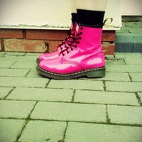 Patent Leather Pink Girls/Ladies Fashionable boots from TeigeDeasy123