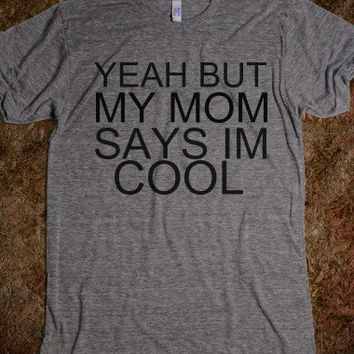 cool mom cool-Unisex Athletic Grey T-Shirt