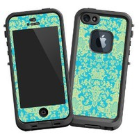 "Amazon.com: Vintage Blue Green Damask ""Protective Decal Skin"" for LifeProof 5 Case: Electronics"