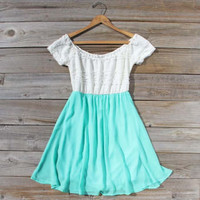 Luna Dress in Mint, Sweet Women's Bohemian Dresses