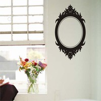 Oval frame Baroque  Vinyl Wall Art Decal Graphic Sticker