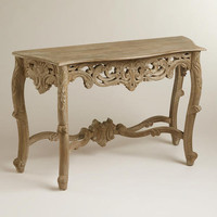 Wooden Victorian Console Table