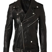 Browns fashion & designer clothes & clothing | BLK DNM | Leather Biker Jacket