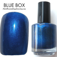 Blue Box Nail Polish Large 16ml Vegan Non-Toxic - Tardis Blue Nail Polish