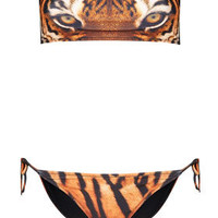 Tiger Face Bandeau Bikini - Swimwear  - Clothing