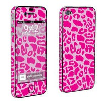 Apple iPhone 4 or 4s Full Body Decal Vinyl Skin - Pink Leopard By SkinGuardz: Cell Phones & Accessories