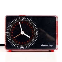 Electro boy -  Stylish Appliance Clock / Timer - Vintage Electronic Accessory - 70's 80's Euro Design