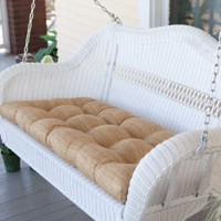 Amazon.com: Casco Bay Resin Wicker Porch Swing Size-Color - 55L x 30W x 24H inches - White: Patio, Lawn &amp; Garden