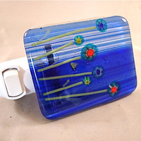 Blue Striped Millefiori Garden Night Light