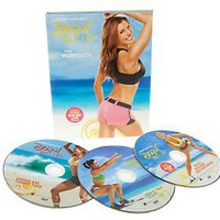 Brazil ButtLift Lower Body Workout with 3 DVD & 3 Booty Bands — QVC.com