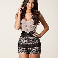 Pleated Lace Playsuit, Lipsy