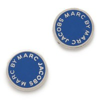 Marc by Marc Jacobs Classic Marc Enamel Logo Disc Studs | SHOPBOP