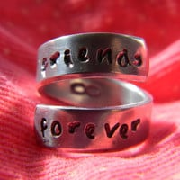 friends forever forever aluminum ring