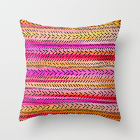 Funky Rhythm 2 (collab with Julia DiSano) Throw Pillow by Sreetama Ray | Society6