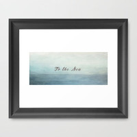 To The Sea  Framed Art Print by secretgardenphotography [Nicola]