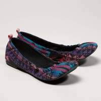 AEO Embroidered Ballet Flat | American Eagle Outfitters