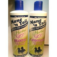 Mane `n Tail Herbal Gro Shampoo &amp; Conditioner Olive Oil Complex 12 oz: Everything Else