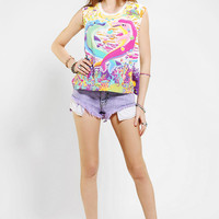 Lisa Frank X UO Dolphin Heart Muscle Tee