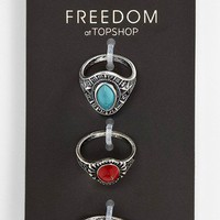 Topshop 'Shield Bead' Rings (Set of 3) | Nordstrom
