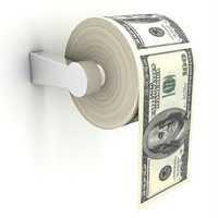 Funny Toilet Paper - $100 Bills