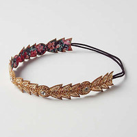Anthropologie - Beaded Plume Headband