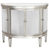 Demilune Mirrored Chest | Mirrored-furniture | Furniture | Z Gallerie