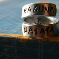The original Hakuna Matata twist aluminum ring Version II.2