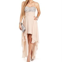 Gia-Taupe Prom Dresses