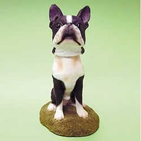 Mini Bobble Head Dog Boston Terrier