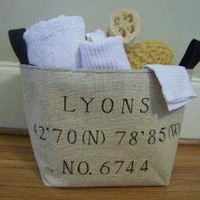Coordinates basket customizable by jennilyons81 on Etsy