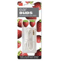 DCI 23859 Strawberry Earbuds - Retail Packaging - Red/Green