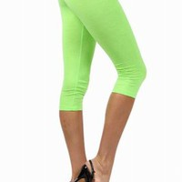Neon Cotton Capris LeggingsPurchase